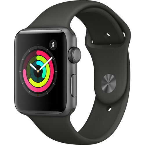 New Apple Watch Series 3 42mm Smartwatch GPS Aluminum Case Sport Band Gray