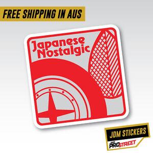 JAPANESE NOSTALGIC JDM CAR STICKER DECAL Drift Turbo Euro Fast Vinyl #0600