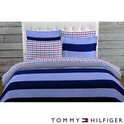 Navy Striped Comforter