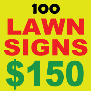 Lawn Bag Signs - Low Price - Buy Direct $150