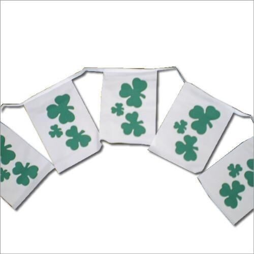 "10 Metre St Patrick""s Day Irish Shamrock Ireland Fabric Flag Party Bunting"