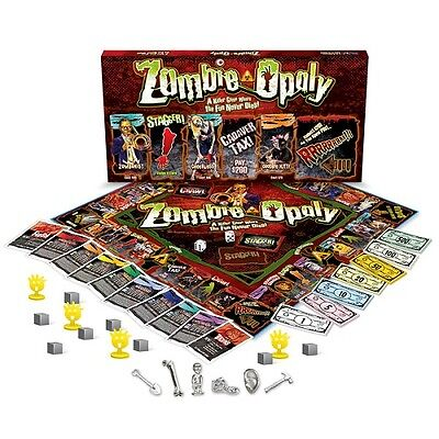 Monopoly Board Game Zombie Gory Age 8 Up Kids Adult Family Toy Zombieopoly - Halloween Gory Games