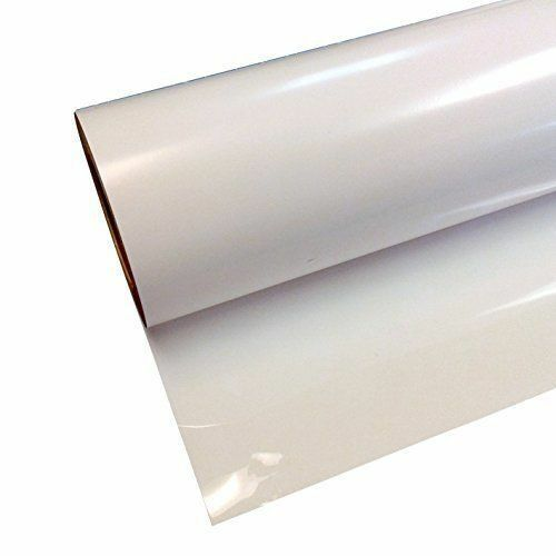 """Siser Easyweed White 15"""" x 5' Iron on Heat Transfer Vinyl Ro"""
