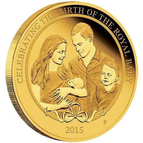 "HRH Princess Charlotte 1/4 oz.9999 GOLD Proof Coin 2015 Australia ""Lowest Price"""