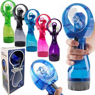Portable Mini Sport Water Bottle w/ Spray Misting Beach Cooling Fan (LOT OF 10X) - Wholesale Bottled Water
