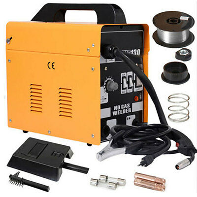 120amp Mig130 110v Flux Core Auto Feed Welding Machine Welder Wspool Wire Fan