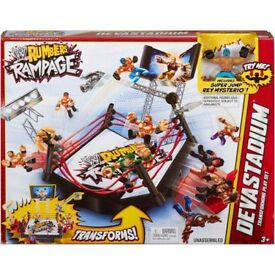 WWE RUMBLERS DEVASTADIUM BRAND NEW IN BOX WITH REY MYSTERIO FIGURE