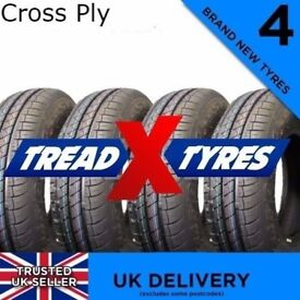 "4x NEW 145/80B10 Cross Ply Starco Tyres Four 145r10 145 80 10"" Tyres x4"