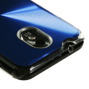 Blue Acrylic Metal Aluminum Hard Case Samsung Galaxy S2 Epic 4G Touch (Sprint)