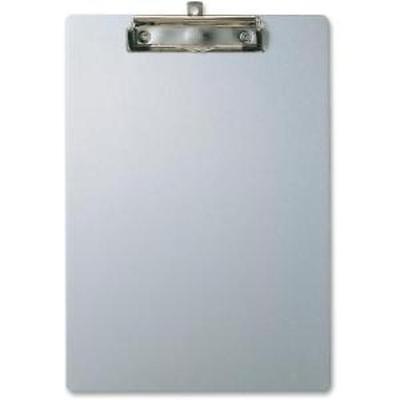 Oic Aluminum Clipboard - 8.50 X 11 - Low-profile - Aluminum - Silver