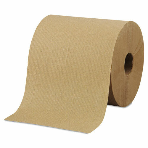 """Morcon Paper Hardwound Roll Towels 8"""" x 800ft Brown 6 Rolls/Carton R6800"""