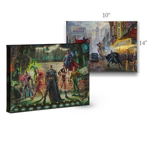 Thomas Kinkade DC The Justice League 10 x 14 Gallery Wrap Canvas