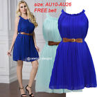 Halter Sleeve Dresses for Women with Ruffle