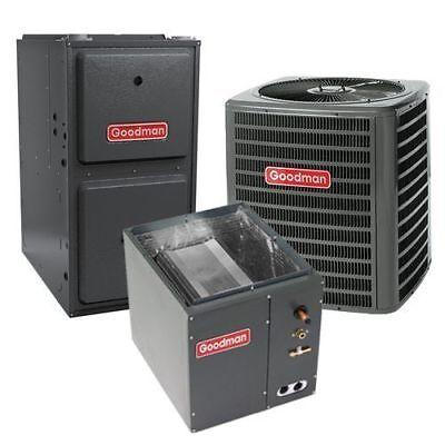 5 Ton Goodman 16 SEER R410A 96% AFUE 120K BTU Horizontal Gas Furnace Split Sys