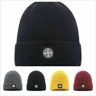 Stone Island Strickmütze für Männer und Frauen Warm Fashion Couple Cap Hut