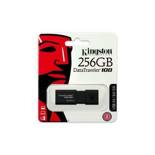 KINGSTON 256GB USB STICK 3.0 DataTraveler DT 100 G3 (130MB/s read)