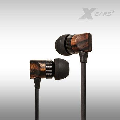In Ear Kopfhörer Xears® Nature XN4 aus Ebenholz Flachbandkabel Audio&HiFi