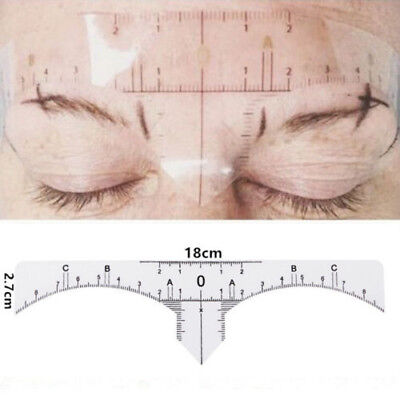 (50 Disposable Eyebrow Ruler Stickers Microblading Tattoo Measure Tools Permanent)