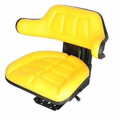 Seat Assembly - Grammer Style Vinyl Yellow John Deere 2020 2030 1020 2040 2355
