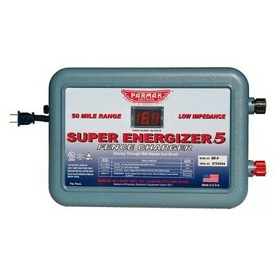 New Parker Mccrory Se-54 Super Energizer 5 110v 50 Mile Charger Usa 5197280