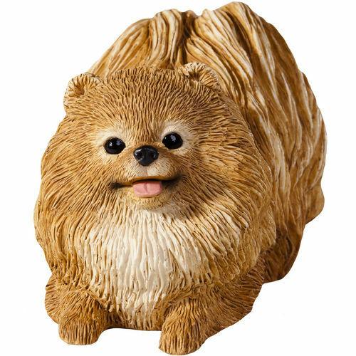 ♛ SANDICAST Dog Figurine Sculpture Pomeranian Pom Pom