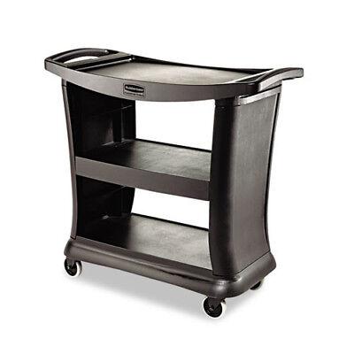Rubbermaid 300 Lb. Capacity Executive Service Cart Black 9t6800bk New