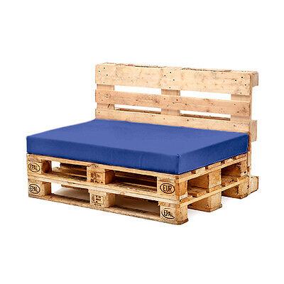 Blue Seat Cushion for Euro Pallet Garden Furniture Waterproof Outdoor Sofa UK
