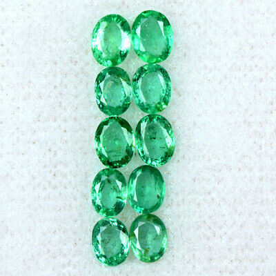 Natural Top Green Emerald Oval Cut Lot 1.91 Cts Zambia Loose Gemstone Offer
