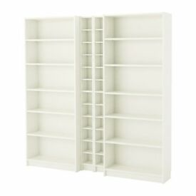 Billy Bookcase and Two CD Shelves