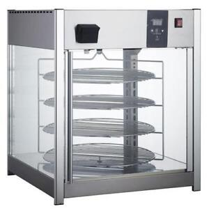"""New Pizza Display Warmer - for Pizzeria - Four 18"""" Rotating Racks"""