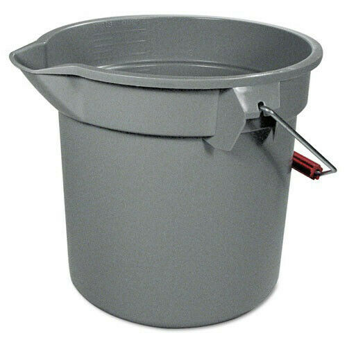 Rubbermaid 14 Qt. Round Utility Bucket (Gray) 261400GY New