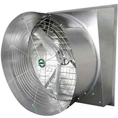 36 Cone Exhaust Fan - Slant Wall - 11100 Cfm 12hp 1ph - Direct Drive 115230v