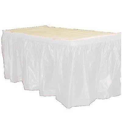 Table Skirts Plastic (14' Plastic Table Skirts - Bulk Packs - 22 Colors- FREE)