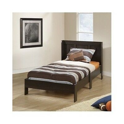 Kids Counterpart Platform Bed Frame Wood Headboard Bedroom Furniture Set Boys Bedding