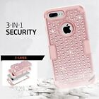 Jewelled Cell Phone Hybrid Cases for iPhone 4