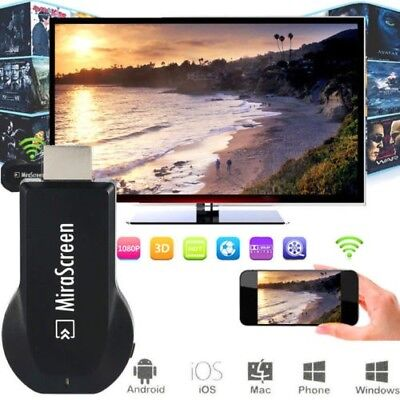 Wireless WiFi Display Streaming Media Player HDMI HDTV for Windows/iOS/Android