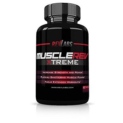 RevLabs MuscleRev Xtreme - Premium Nitric Oxide Supplement - Build Lean Muscle