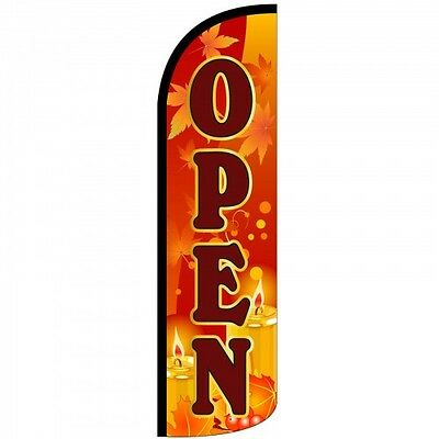 Open Swooper Flag Windless 3 Wide Sign Blade Banner Fall Theme Only