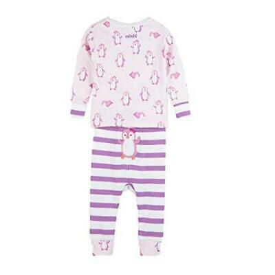 Hatley Baby Girls Organic Cotton Pajama Sets,, Precious Penguin, Size 9.0 GMjQ