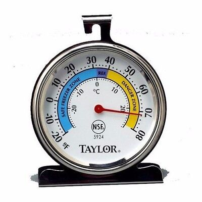 Taylor 5924 Prototype Stainless Steel Freezer Refrigerator Thermometer