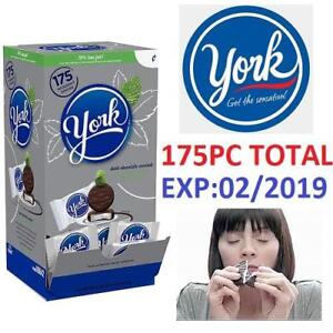 NEW 175PC YORK PEPPERMINT PATTIES 225887000 70% LESS FAT DARK CHOCOLATE COVERED 1 BOX OF 175 PATTIES EXP:02/2019