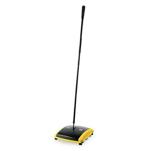 "Rubbermaid 44"" Dual Action Carpet Sweeper (Bk/Yel) 421388BLA NEW"
