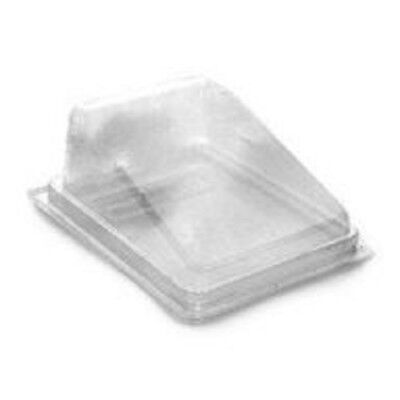 50 Plastic cake slice box container wedge hinged bakery deli cater picnic party De Li Container