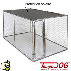 Enclos  pour chien avec abri solaire