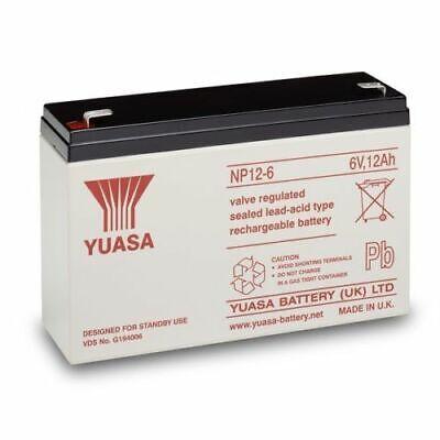 2 X 6 VOLT 12AH YUASA BAIT BOAT BATTERIES TO FIT MICROCAT (45% more bait time)