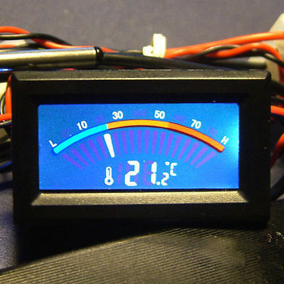 New Digital Lcd Thermometer Temperature Meter Gauge Molex Panel Mount Cf Pc Mod