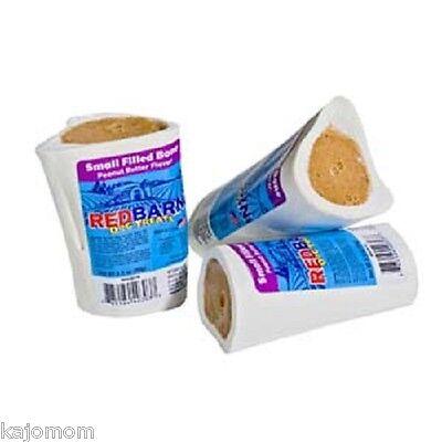 1 RedBarn PEANUT BUTTER Filled Bone Vitamin Natural Dog Chew & Treat Small Bully