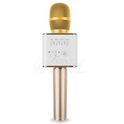 Q9 Mini Wireless Bluetooth Karaoke Microphone Speaker Home KTV USB Player Gold for sale  Shipping to India