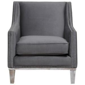 Picket House UAG813100DWBCA Augusta Polyester Accent Chair Charcoal (New Other)