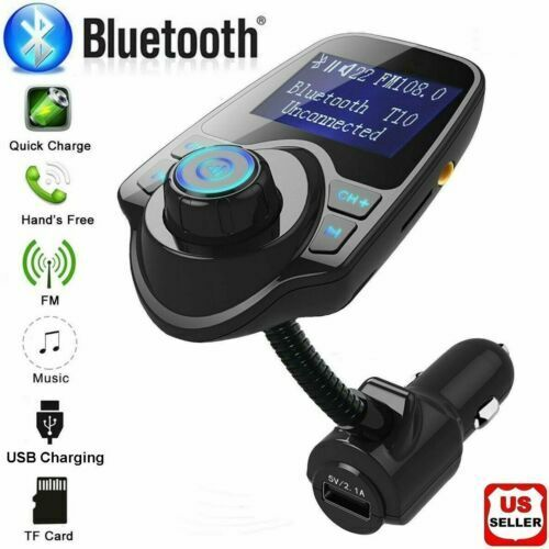 Bluetooth Wireless Car FM Transmitter AUX Stereo Receiver Adapter 2 USB Charger Consumer Electronics